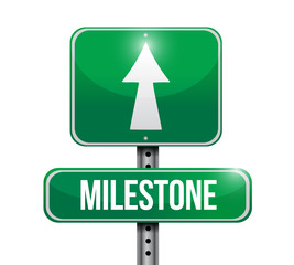 milestone sign post illustration design