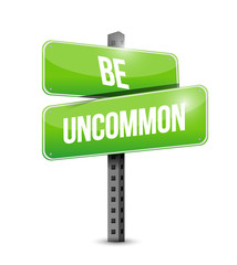 be uncommon sign illustration design