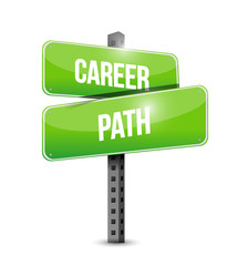 career path sign illustration design