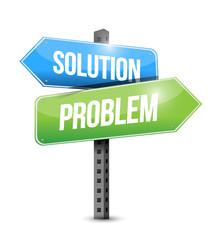 solution, problem sign illustration design
