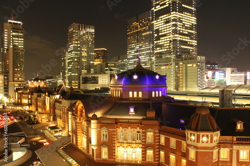 Foto op Canvas Treinstation 東京駅 夜景