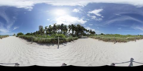 Spherical panoramic Miami Beach