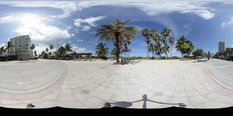 Miami Beach spherical 360x180 panorama for virtual tours