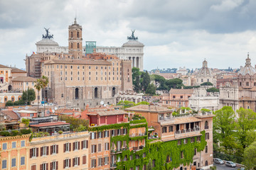 Rome : monument Victor Emmanuele II depuis le Palatino