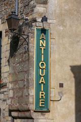 panel of a antique shop