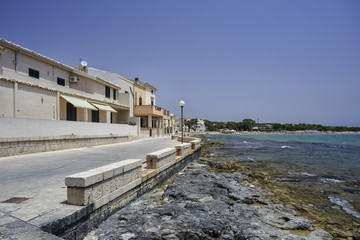 Italy, Sicily, Sampieri, view of the seafront