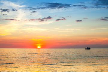 Beautiful sunset and sea.