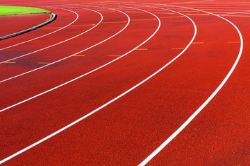 Curve of running tracks