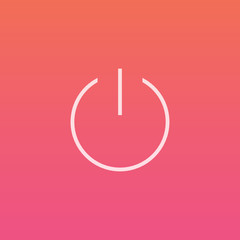 Power button - Finely crafted line icons