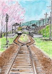 桜の咲く駅
