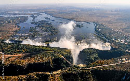Fotobehang Watervallen Victoria Falls