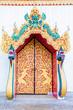 church door in temple thailand