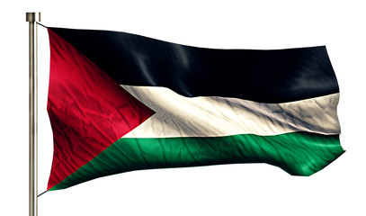 Palestine National Flag Isolated 3D White Background