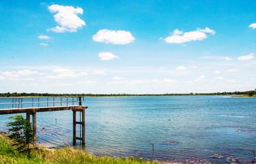 landscape background at dock of swamp Korat Province,Thailand