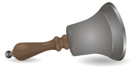 Steel bell wooden handle