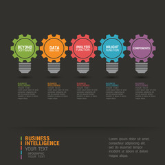 Business infographic concopt
