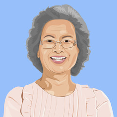 Vector of Senior Adult Portrait
