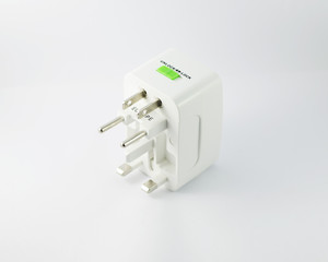 Universal Adaptor isolated on white background