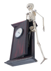 Skeleton Emerge from Clock of Time