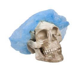 Skull and Medical Hair Net