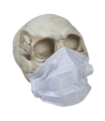 Skull Wearing Medical Mask