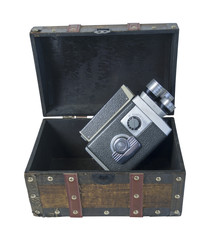 Video Camera in Traveling trunk
