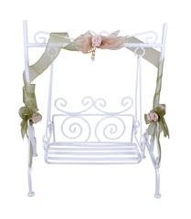 White Garden Swing for relaxing outdoors