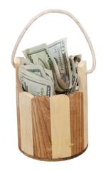 Wishing Well Bucket full of Cash