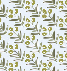 Seamless pattern of olive