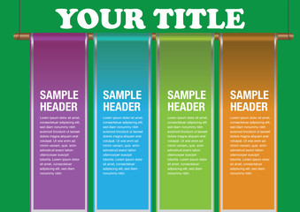 Modern info graphics Page Layout Template