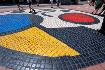 Mosaic by Joan Miro - Barcelona Spain