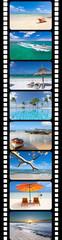 Photos de l'île Maurice sur pellicule de film
