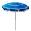 Blue beach umbrella