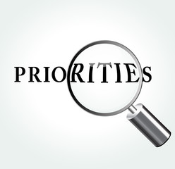 Vector priorities concept illustration
