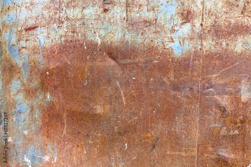 Foto op Canvas Metal Old worn rusty texture