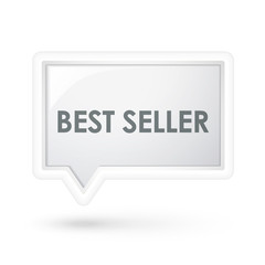 best seller words icon on a speech bubble