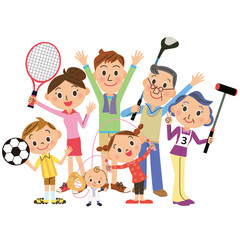 家族でスポーツ