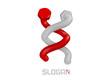 distorted screws  - company logo