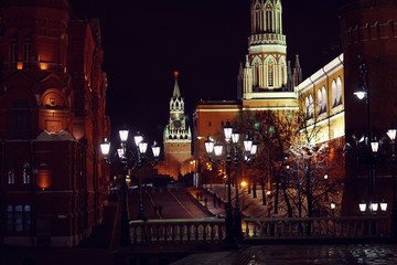 Red Square, Moscow Kremlin night