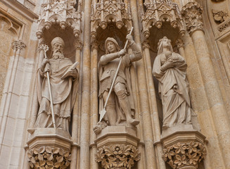 Statues of saints of Zagreb cathedral (XVIII c.). Croatia