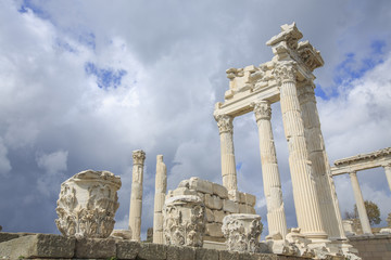 Trajan temple in Pergamon Turkey