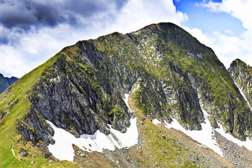 Beautiful summer landscape from Fagaras mountains, Romania