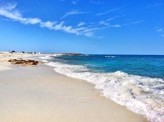 spiaggia di Is Arutas in Sardegna