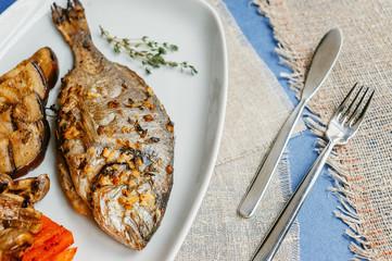 Healthy sea bass