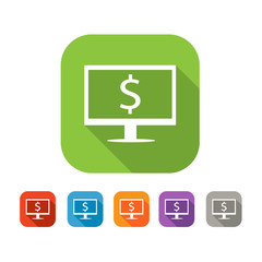 Color set of flat internet business icon