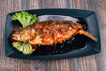 Healthy sea bass fish
