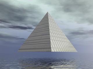 Metallic pyramid - 3D render