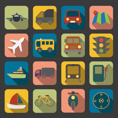 flat transport icon