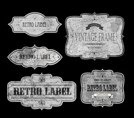 RETRO LABELS white