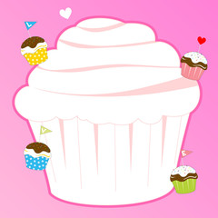 memo pink with cupcake theme